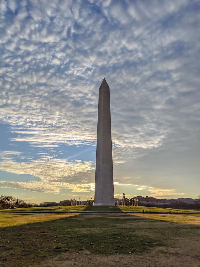 Washington Monument at sunrise   Another long weekend in Washington, D.C.