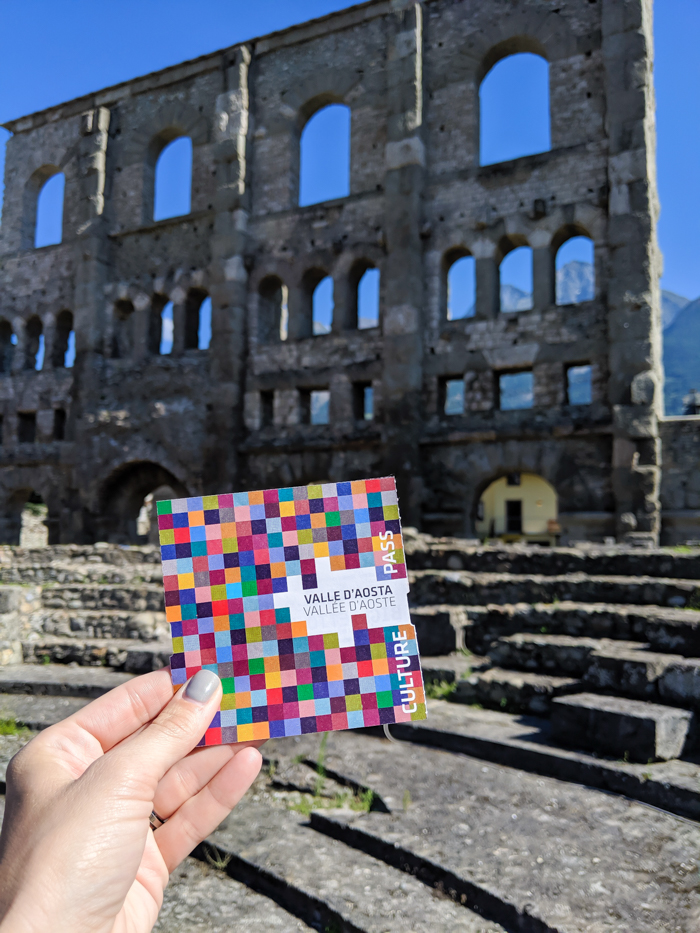 Culture Pass for tourism savings | How to Spend 1 Day in Aosta, Italy // The Capital of the Aosta Valley | Things to see in Aosta, Things to do in Aosta, Where to eat in Aosta, the smallest of Italy's 20 regions #aosta #italy #aostavalley #traveltips #timebudgettravel