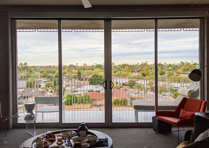 Views from my room at the Hotel Valley Ho, iconic mid-century modern design | Where to Stay in Scottsdale, Arizona for two very different experiences | #hotelvalleyho #scottsdale #arizona #wheretostay