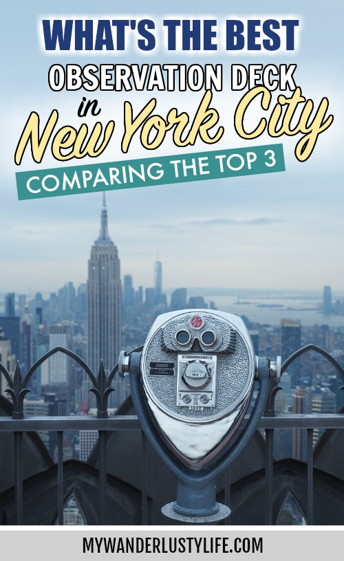 Which is the best observation deck in New York City? Choosing between Top of the Rock, the Empire State Building, and the new One World Trade Center #newyorkcity #newyork #manhattan #mywanderlustylife #observationdeck #observatory #topoftherock #empirestatebuilding #oneworldtradecenter