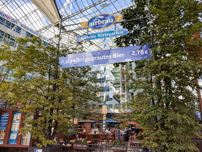 Airbrau, the Munich Airport brewery and beer garden / Must-Know Oktoberfest tips from an Oktoberfest tour guide and locals / what you need to know about oktoberfest in munich, germany