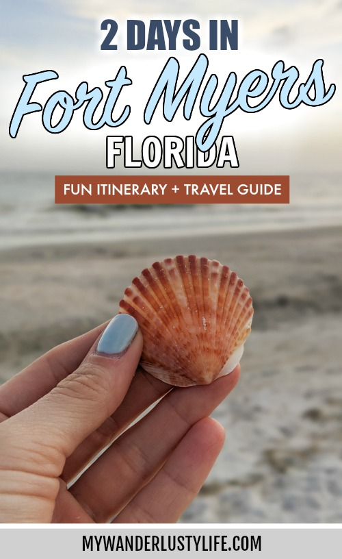 2 days in Fort Myers, Florida, a fun weekend itinerary: #fortmyers #florida #gulfcoast #sanibelisland #ftmyers #fortmyersflorida #floridabeach