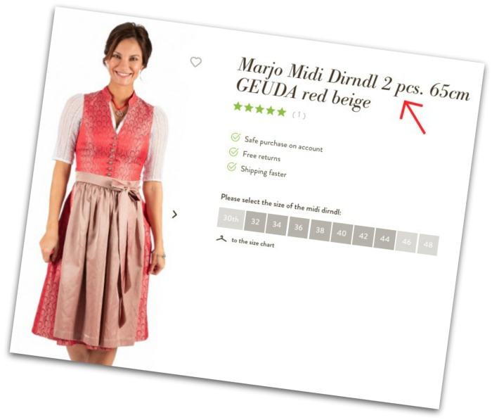 When buying a dirndl online, make sure you buy all three pieces