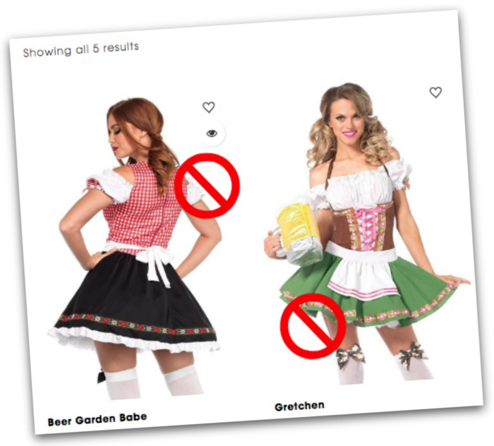Don't buy a dirndl costume when you buy a dirndl online