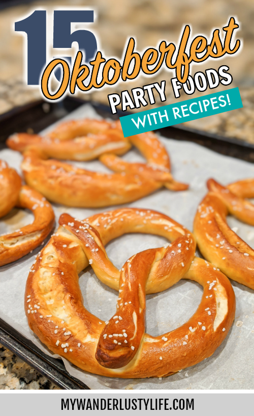 The perfect Oktoberfest party foods for your oktoberfest-themed party at home | What to serve at an Oktoberfest party #oktoberfest #oktoberfestfood #germanfood #germanrecipes #pretzels