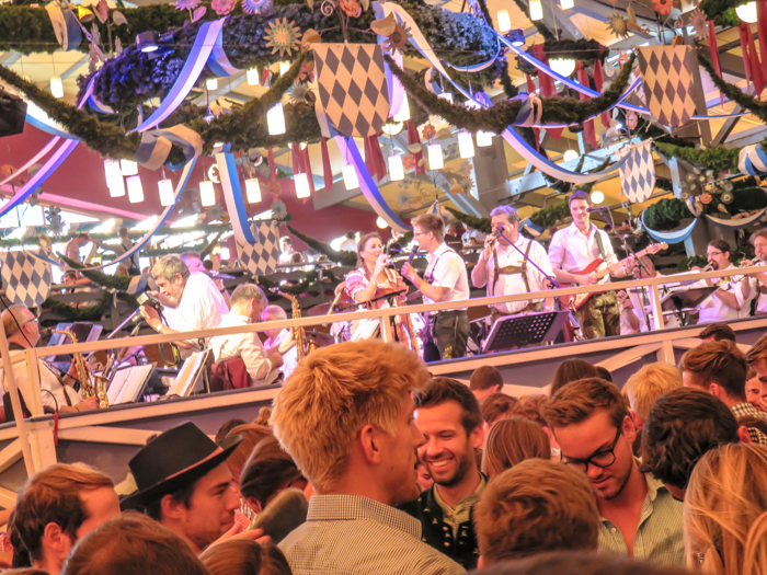 The band at the Schottenhamel at Oktoberfest in Munich, Germany