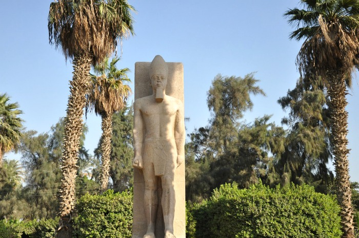 Ramesses II statue in Memphis, Egypt