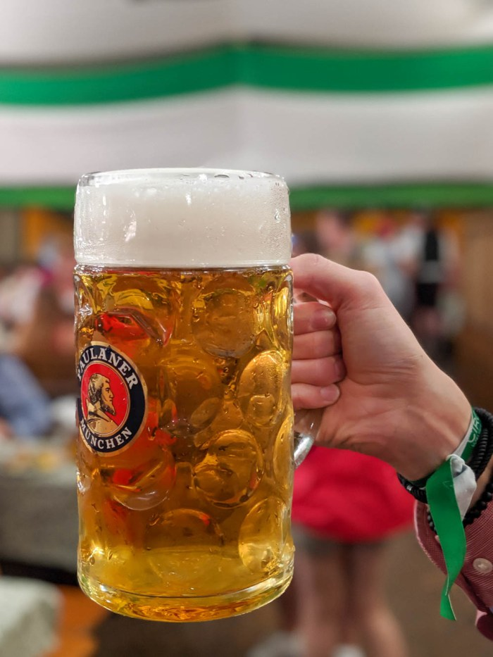 Oktoberfest party beer: What kind of beer to serve at your oktoberfest party | Paulaner mass at Oktoberfest in Munich, Germany inside the Armbrustschutzenzelt