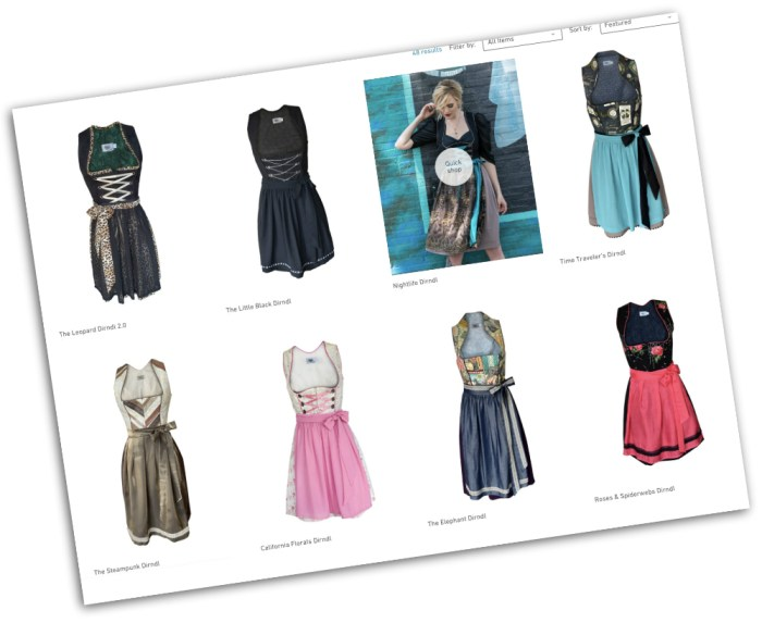 what to wear to an oktoberfest themed party - dirndls from Rare Dirndl