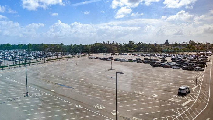 Visiting Disney World During the Pandemic: Everything You're Dying to Know | Disney World in 2020, what it's like to visit disney world right now. | empty hollywood studios parking lot