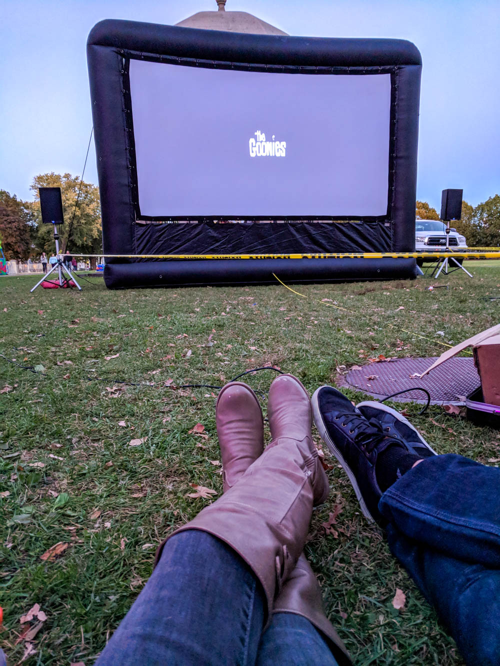 Watching the Goonies in Salem Common