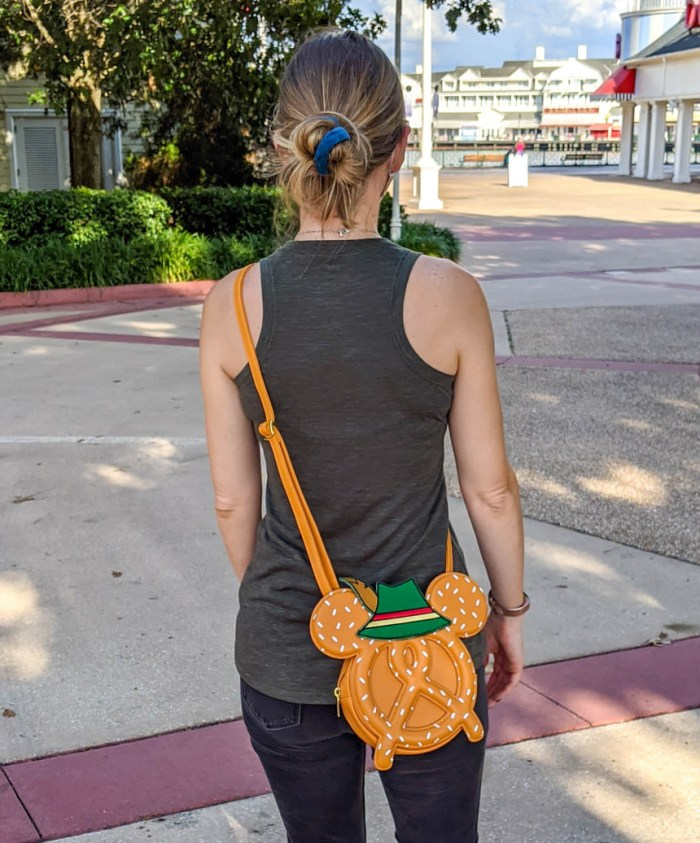 oktoberfest gift ideas, perfect gifts for oktoberfest lovers: Mickey pretzel purse from Epcot Germany Pavilion