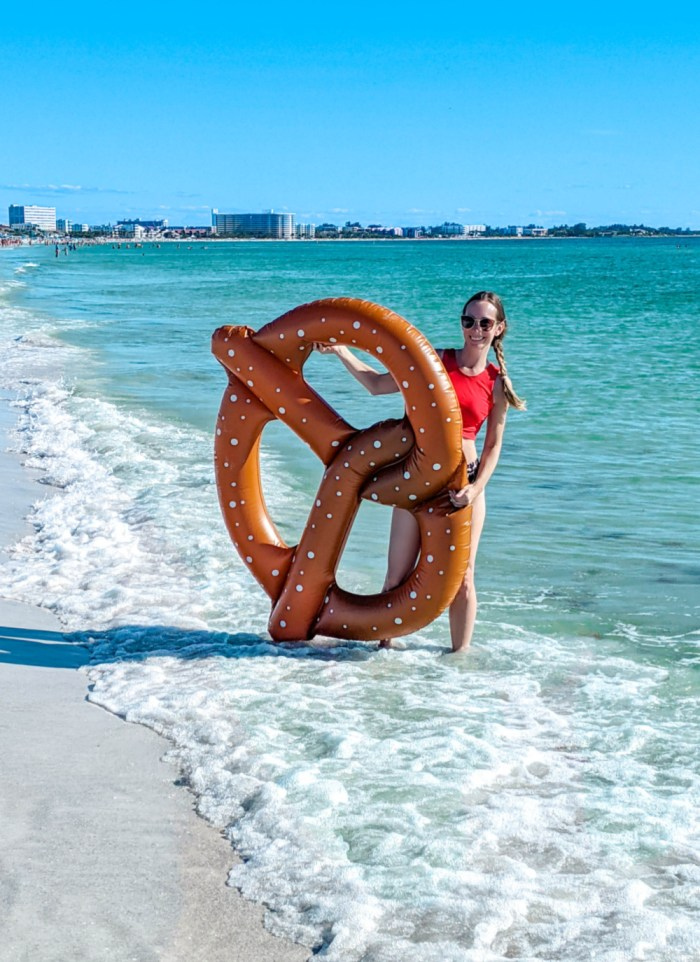 oktoberfest gift ideas, perfect gifts for oktoberfest lovers: pretzel pool float