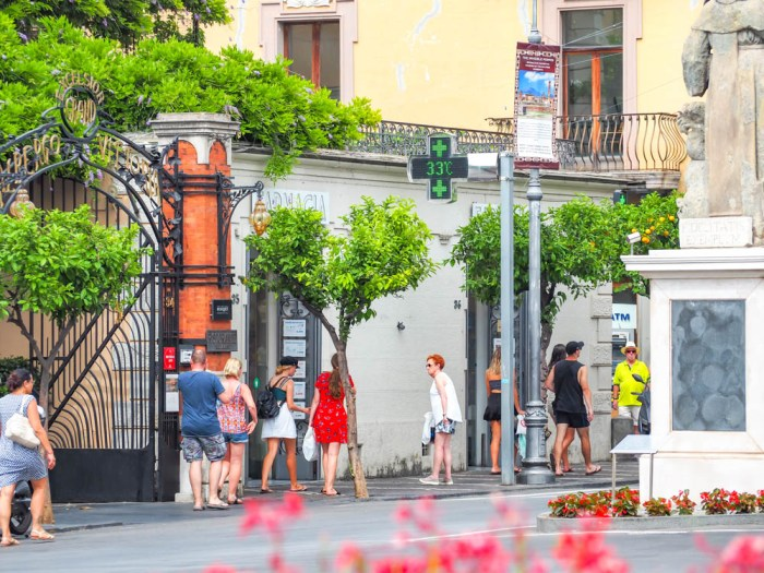 Pharmacy in Sorrento, Italy | Must-Have Travel Safety Items: 17 Essentials for Your Travel Safety Kit | Travel health and safety | solo female travel safety