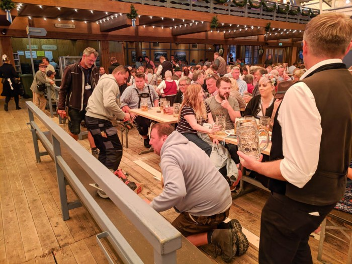 Employee working on the floor | Will Oktoberfest 2021 take place? Is Oktoberfest 2021 going to be canceled? All the info you need to know like what to do, how to plan ahead, official announcements out of Munich, Germany