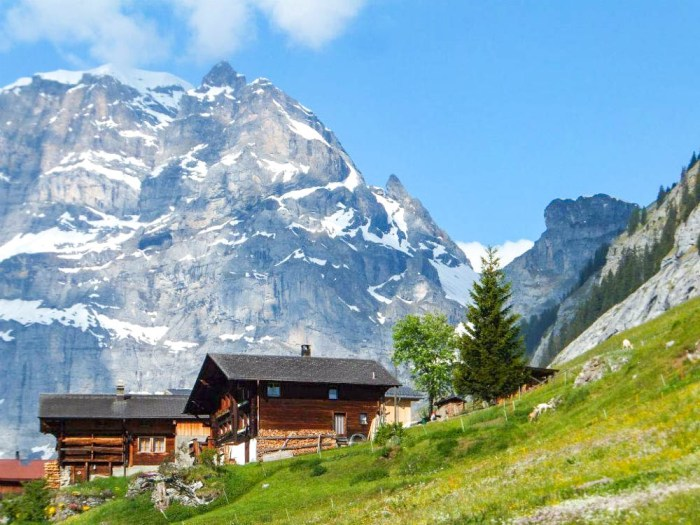 Chalet in the mountains | Where to stay in Gimmelwald, Switzerland: Mountain Hostels and B&Bs | Best places to stay in Gimmelwald