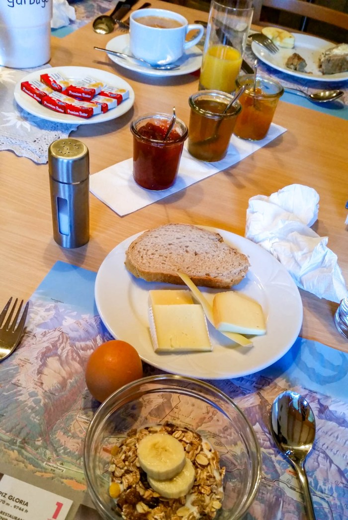 Esther's Guesthouse breakfast | Where to stay in Gimmelwald, Switzerland: Mountain Hostels and B&Bs | Best places to stay in Gimmelwald