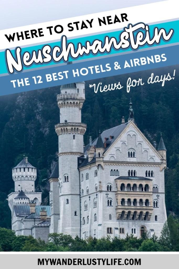 Where to stay near Neuschwanstein Castle: 12 Best Hotels and Airbnbs in Hohenschwangau, Schwangau, and Füssen #neuschwanstein #castle #germany #bavaria #romanticroad