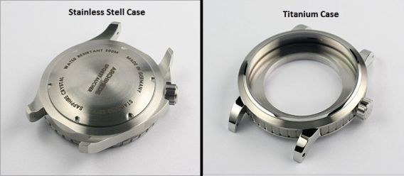 stainless steel and titanium