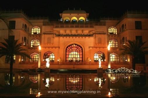 Evening at Shiv Vilas Palace