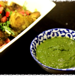 Green Chutney (with a secret ingredient)