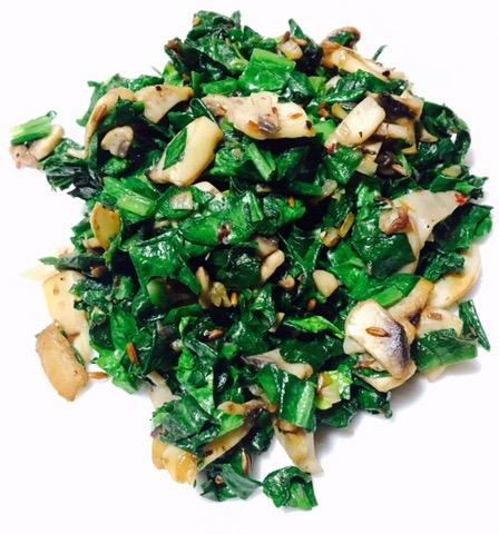spinach mushroom stir fry recipe