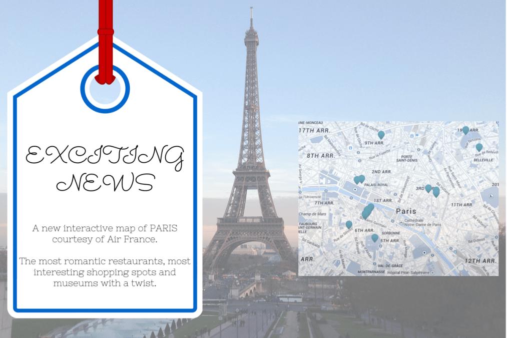New Air France interactive Paris map