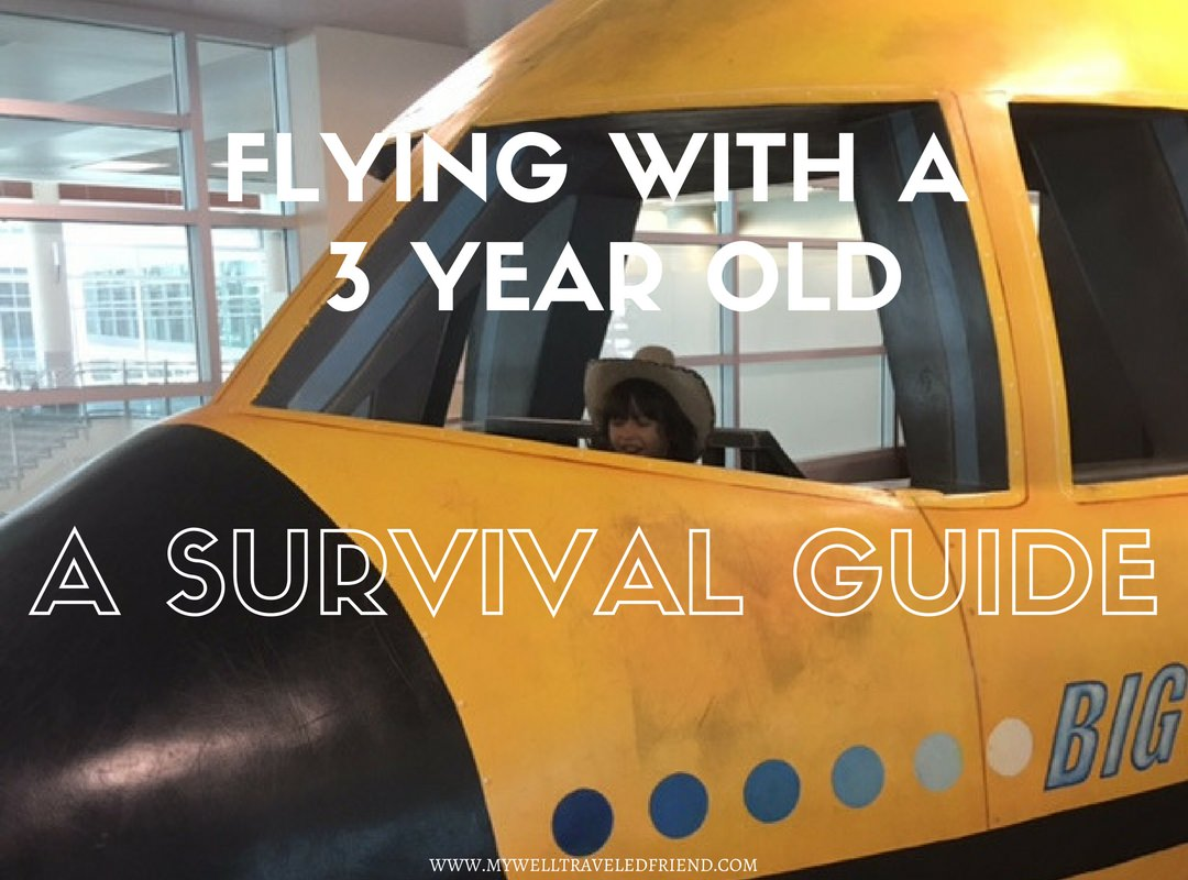 Flying with kids, a survival guide to  3 year olds
