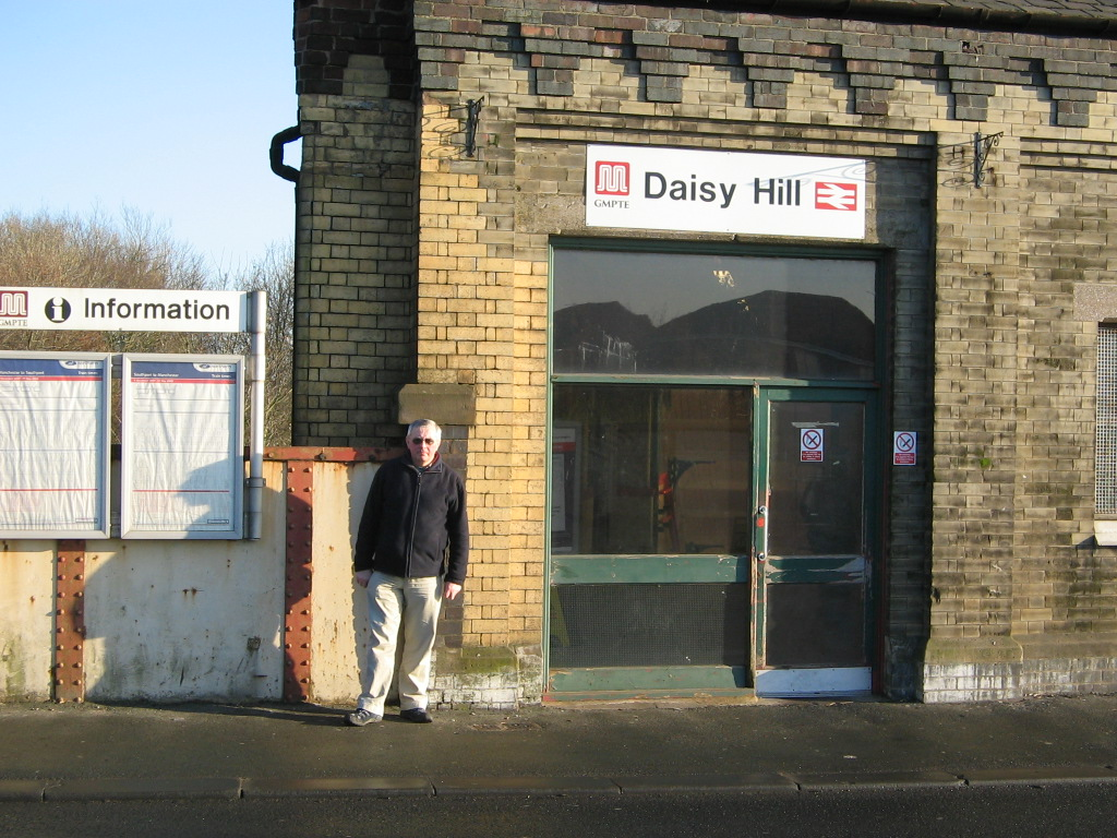 Councillor David Wilkinson at Daisy Hill railway station