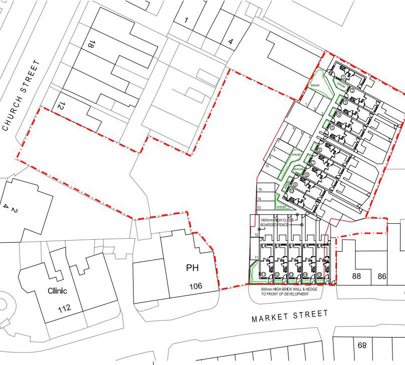 Site plan for the housing application