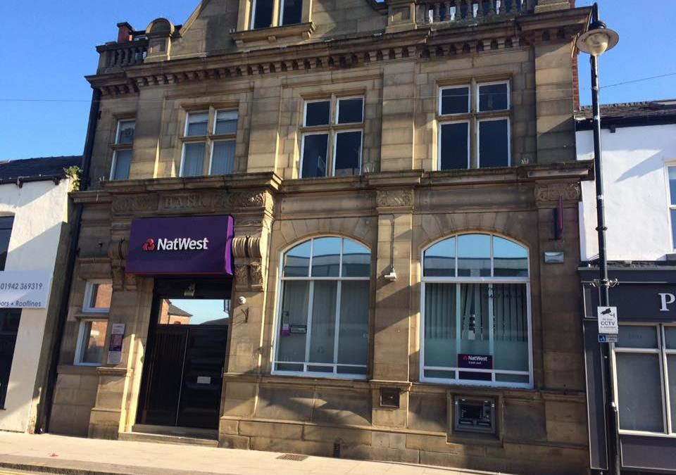 Fight to keep war memorial in Westhoughton as NatWest closes
