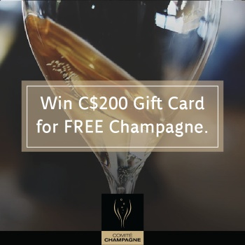 Wine $200 gift card for Champagne