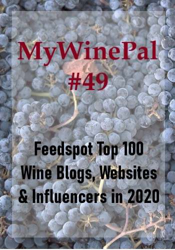 MyWinePal Top 49 Feedspot Wine Blogger Ranking for 2020