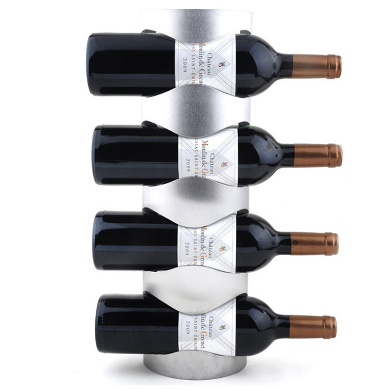 stainless steel wall mounted wine rack hold wine bottles stander