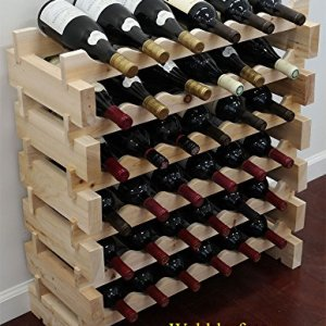 Stackable Storage Wine Rack Stand, Wobble-Free