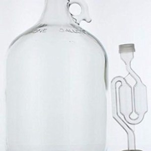 1 Gallon Glass Wine Fermenter Beer Making Rubber Stopper Airlock Brew Carboy NEW