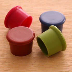 1 pcs Bottle Stoppers Round Silicone Red Wine Covers Beer Bottle Sealers Kitchen Bar Simple Practical Tools