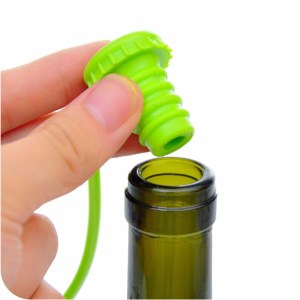 Anti-lost Silicone Hanging Button Wine Plug Bottle Cap Cover Kitchen Tools Professional May23
