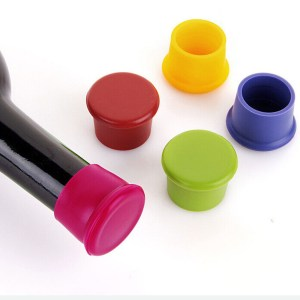 New 1Pcs Silicone Bar Wine Stopper, Fresh Keeping Bottle Cap, Flavored Beer/Beverage Corks, Kitchen Champagne Closures