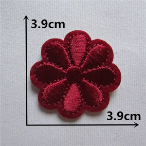 wine red flower patch Ho t melt adhesive clothing patches stripes 1pcs applique embroidery blossom DIY accessories C226