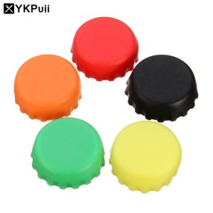 1PC Candy Colors Keep Bear Fresh Wine Stopper Silicone Wine Bottle Cover Beer Wine Bottle Cap Kitchen Gadgets