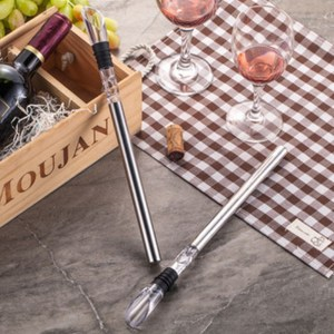 1Pc Rushed Ice Bucket Stainless Steel Barware Wine Pourer With Chill Rod Bottle Coolers Chiller Stick Spout Aerator