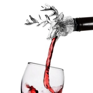 Deer Stainless Steel Wine Bottle Stoppers Stag Head Wine Pourer Unique Wine Aerators Bar Tools LPT7376