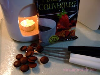 Hearty Chocolate Fondue Make at Home, for Our Valentine.