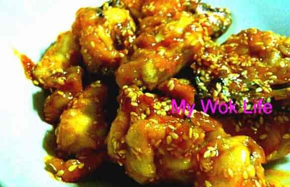Honey Sesame Chicken (甜蜜金凤 – 密糖芝麻鸡)