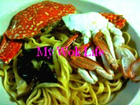 Linguine with Flower Crab