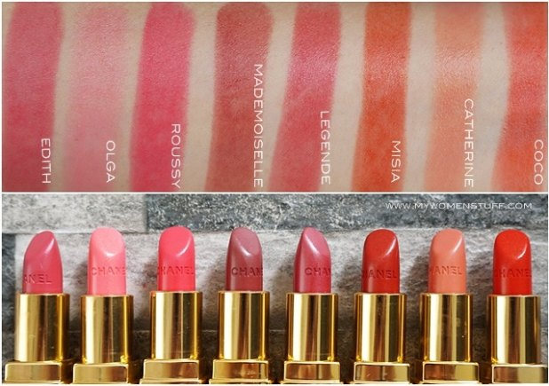 rouge coco chanel lipstick swatches the art of beauty. Black Bedroom Furniture Sets. Home Design Ideas