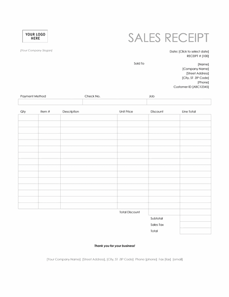 Image result for POS Sales Receipt Template