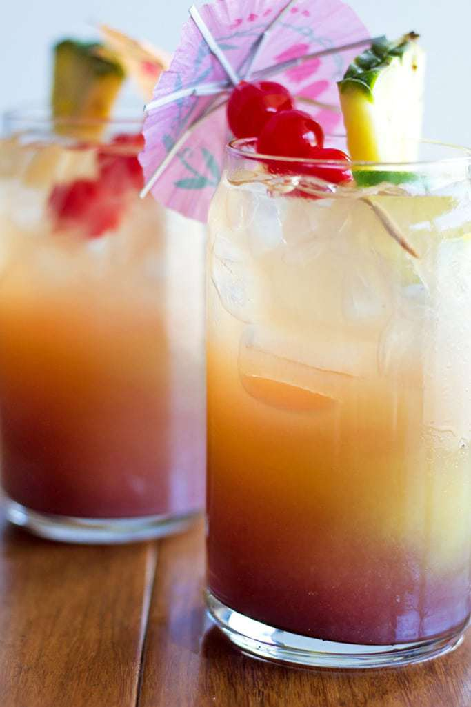 This Summer Rum Punch is the perfect cocktail recipe for a hot summer day!