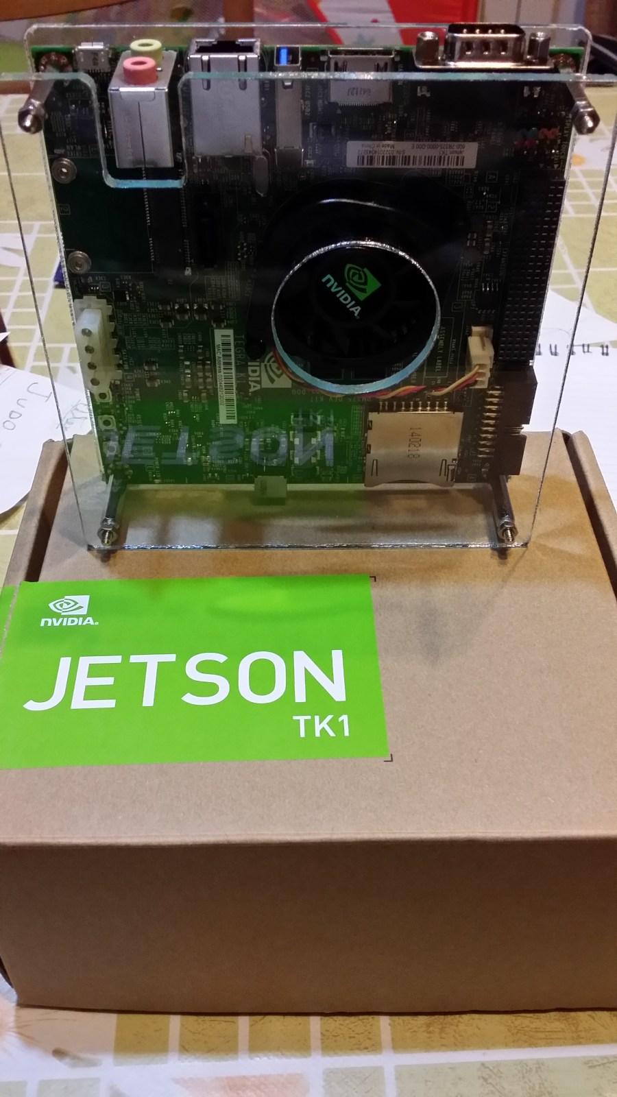 """NVidia Jetson TK1 inside the """"sandwich"""""""